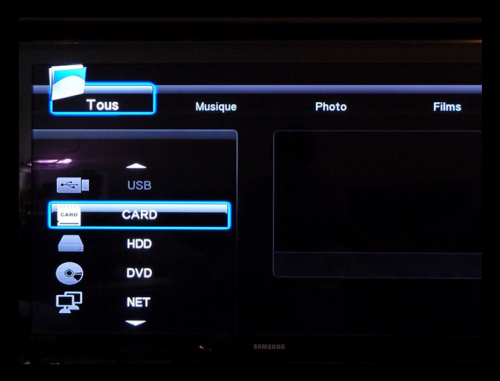 Media player HDMI 1080P interface