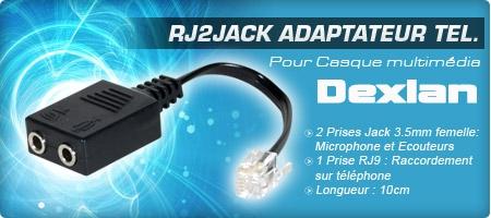 adaptateur téléphonique,rj9,jack